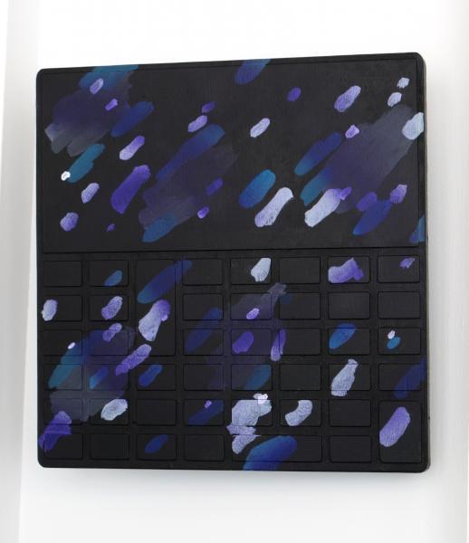 Dispositif dépassé #10, 2014 Acrylique sur bois